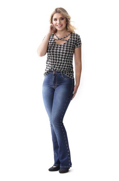 calca flare sawary jeans
