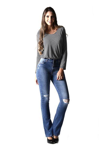 Calça Jeans Feminina Flare Boot Cut - 254237