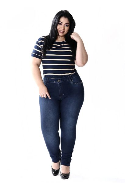 Calça Jeans Feminina Plue Size Skinny - 251545