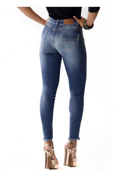 Calça Jeans Feminina cigarrete Push Up - 253485