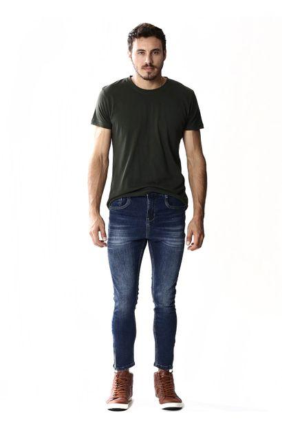 Calça jeans Masculina Cropped - 253490
