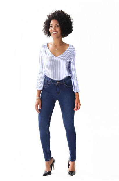 Calça Jeans Feminina skinny Levanta Bumbum - 253985