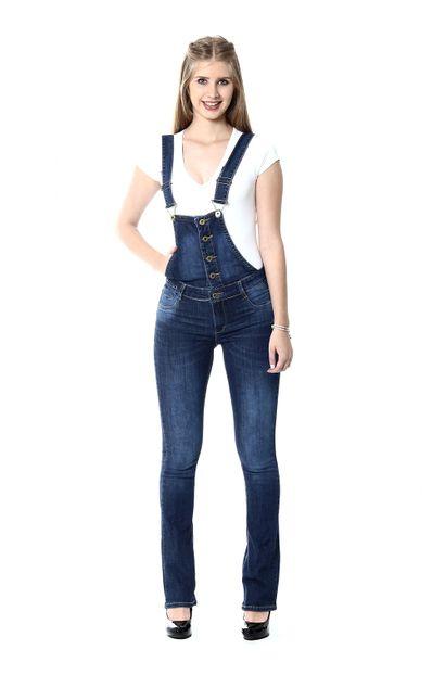Macacão Jeans Feminino - 253513
