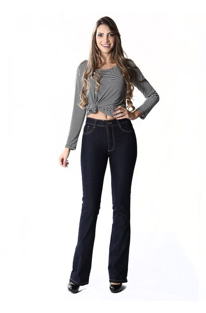Calça Jeans Feminina Flare Boot Cut, Hot Pants - 254072