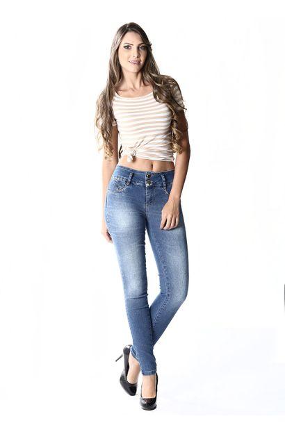 Calça Jeans Feminina Legging Modela e levanta Bumbum – 253597