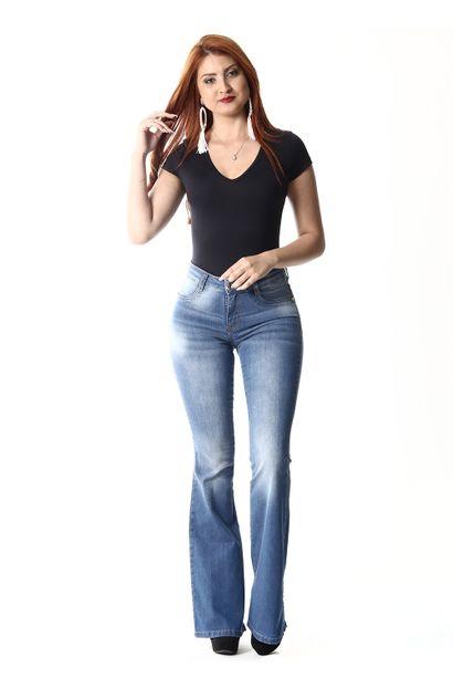 Calça Jeans Feminina Flare  - 254203