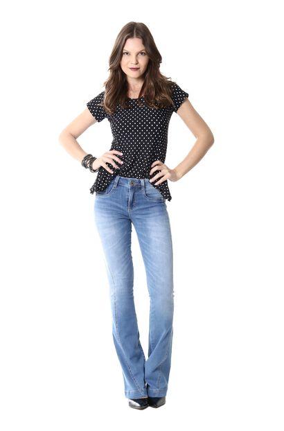 Calça Jeans Feminina Flare - 254127