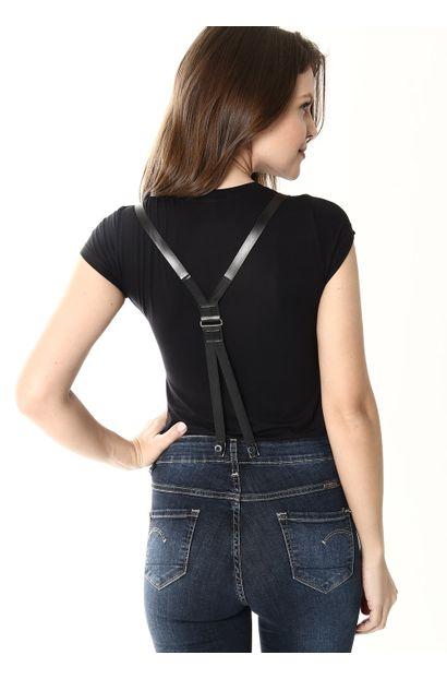 Macacão Jeans Feminino - 253914