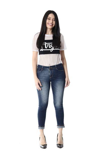 Calça Jeans Feminina Cropped - 253443