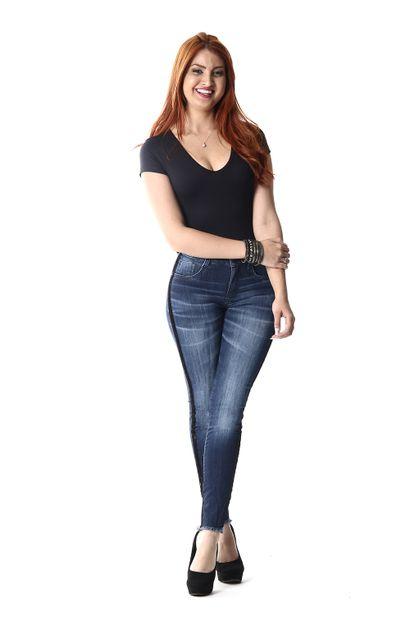 Calça Jeans Feminina Cigarrete - 253458