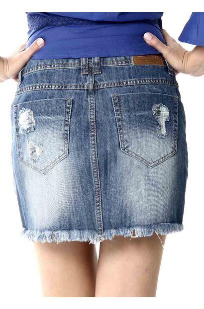 Saia Jeans Feminina - 253824