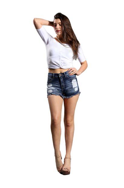 Shorts Jeans Feminino Hot Pant - 248707
