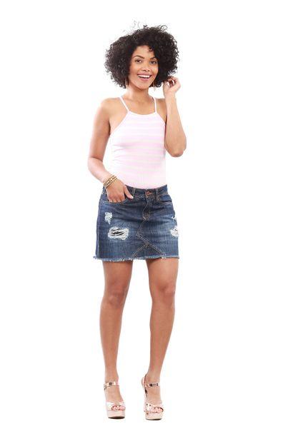 Saia Jeans Feminina - 249923