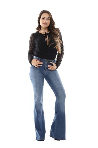 Calça Jeans Feminina Flare - 254694