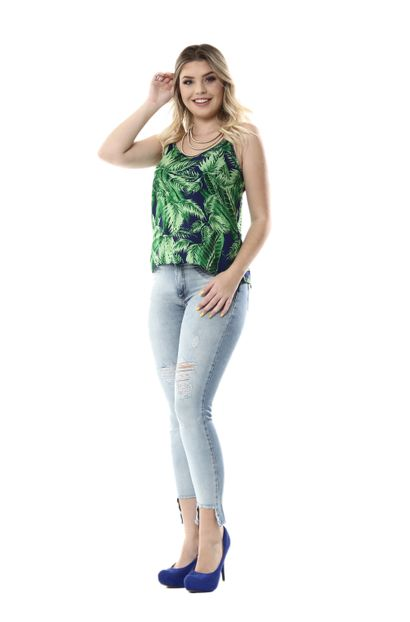 Calça Jeans Feminina cigarrete Push Up - 254354