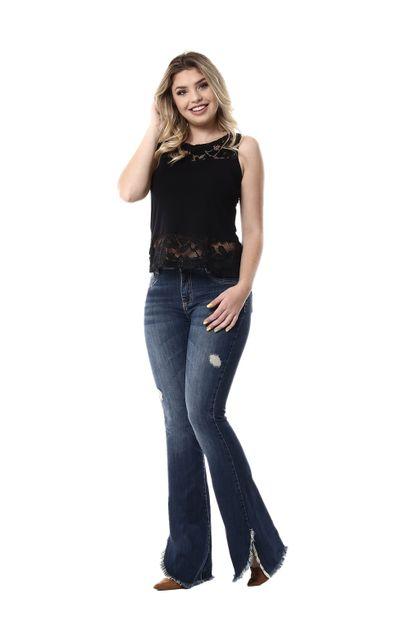 Calça Jeans Feminina Flare - 254787