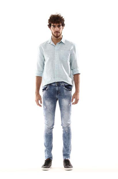 Calça Jeans Masculina Skinny - 254515