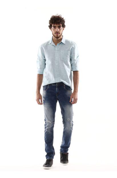 Calça Jeans Masculina Skinny - 254417