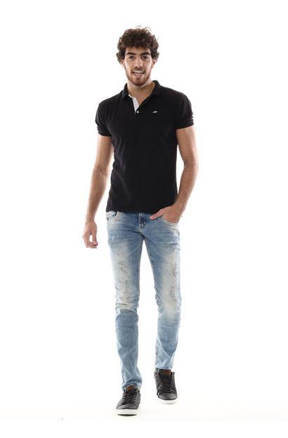 Calça Jeans Masculina Skinny - 254046