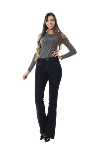 Calça Jeans Feminina Flare - 255175