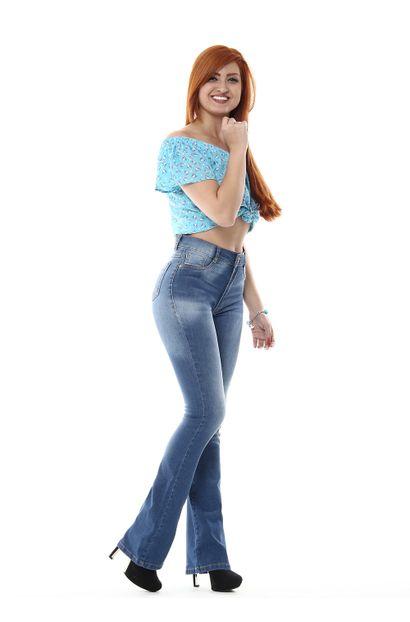 Calça Jeans Feminina Flare Boot Cut - 254672