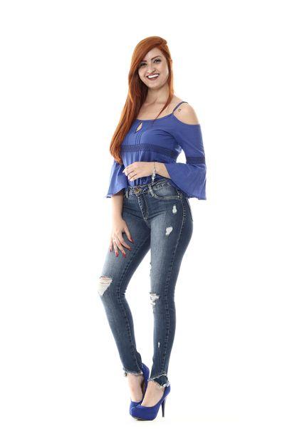 Calça Jeans Feminina Cigarrete - 254770