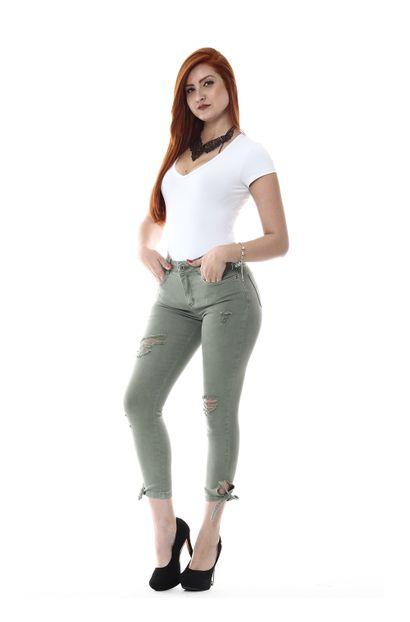 Calça Jeans Feminina Cropped - 255291