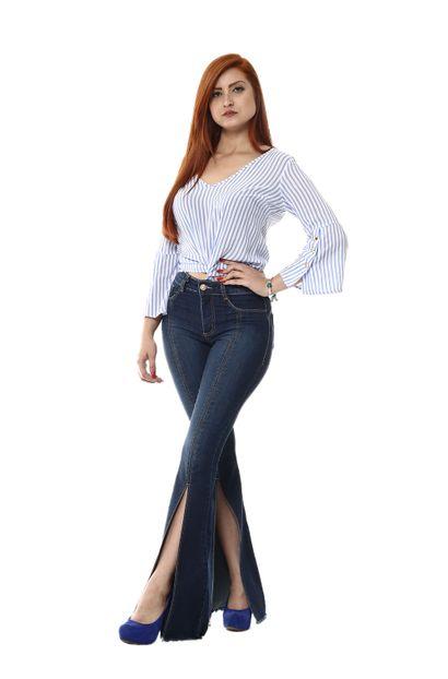 Calça Jeans Feminina Flare - 254344