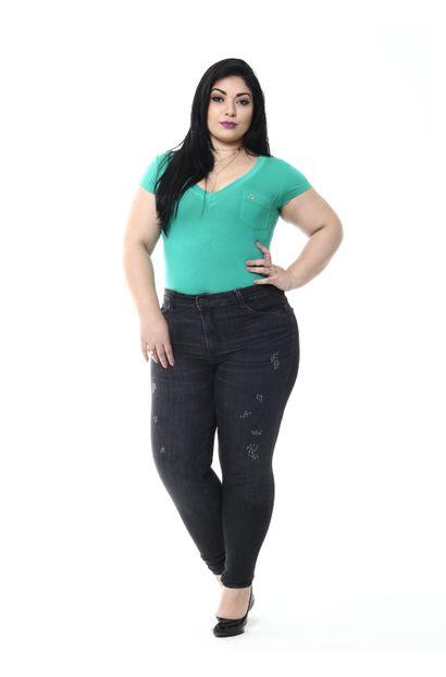 Calça Jeans Feminina Cigarrete Plus size - 254944