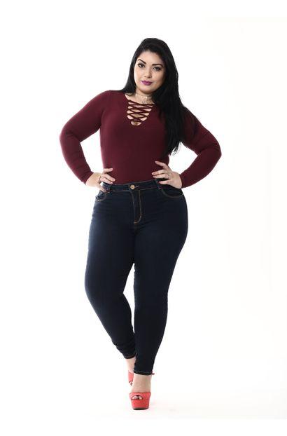 Calça Jeans Feminina Cigarrete Plus Size - 255143