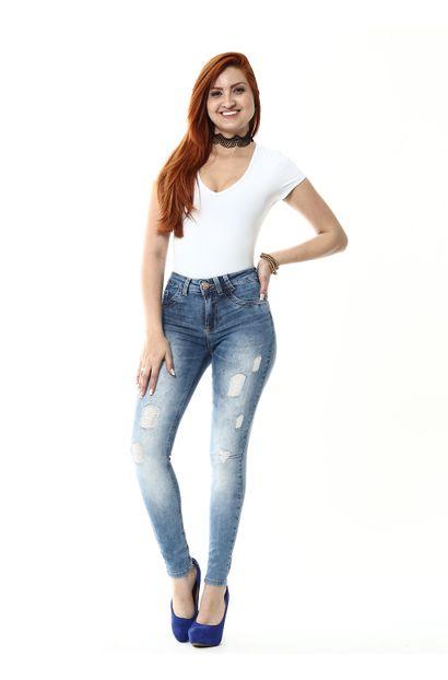 Calça Jeans Feminina Legging - 255027