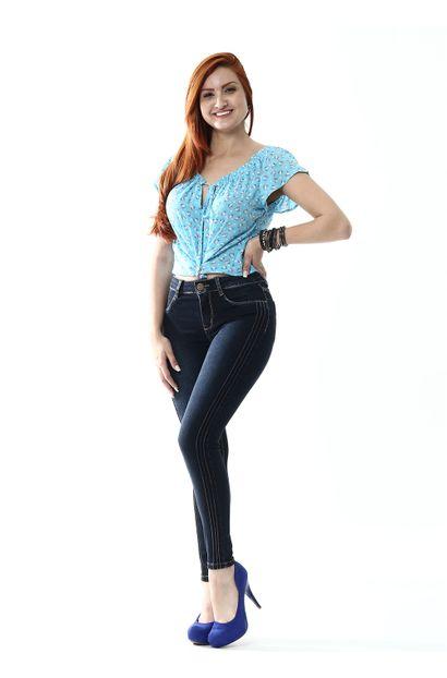 Calça Jeans Feminina Cigarrete - 254576