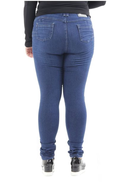 Calça Jeans Feminina Skinny Plus Size Levanta Bumbum - 251302