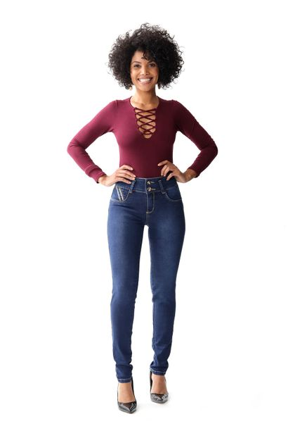 Calça Jeans Feminina Legging Modela e levanta Bumbum – 253488