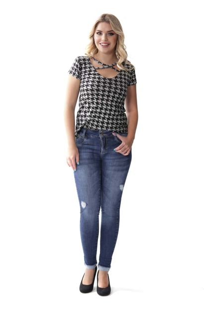 Calça Jeans Feminina Cigarrete Modela e levanta bumbum - 253742