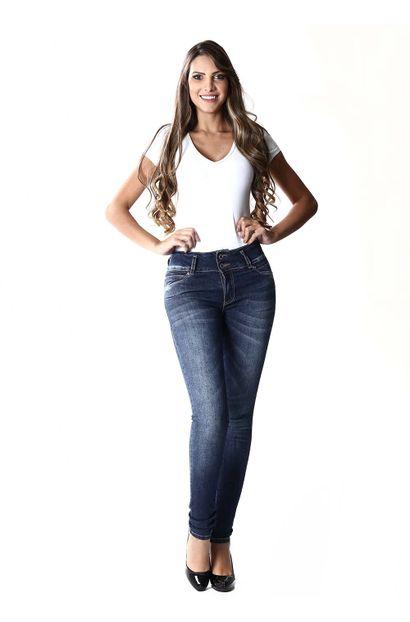 Calça Jeans Feminina Legging Modela e levanta Bumbum – 253692