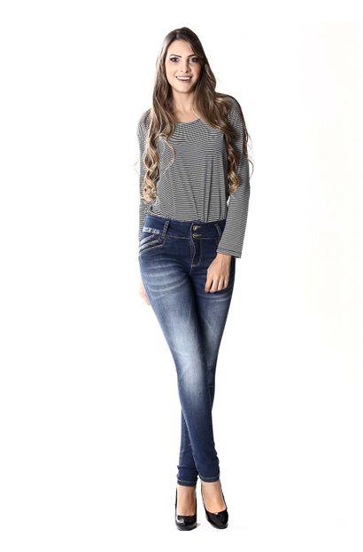 Calça Jeans Feminina Legging Modela e levanta Bumbum - 253461
