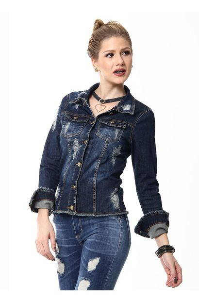 Jaqueta Jeans Feminina - 253045