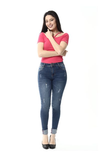 Calça Jeans Feminina Cigarrete - 254755