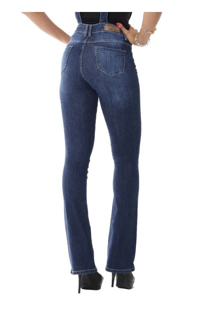 Macacão Jeans Feminino Flare Boot Cut - 254857