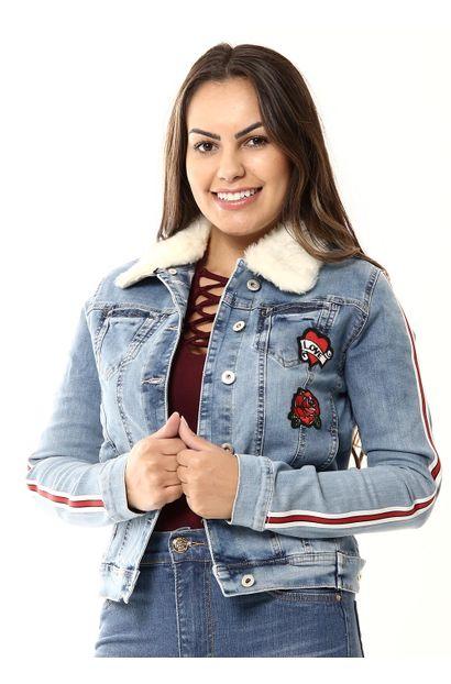 Jaqueta Jeans Feminina -  255476