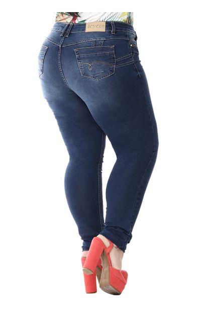 Calça Jeans Feminina Skinny Levanta Bumbum Plus Size - 254989