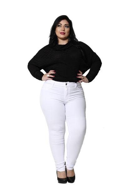 Calça Jeans Feminina Cigarrete Plus Size - 255002