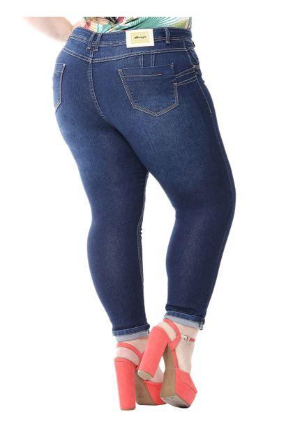 Calça Jeans Feminina Cropped Plus Size - 255302