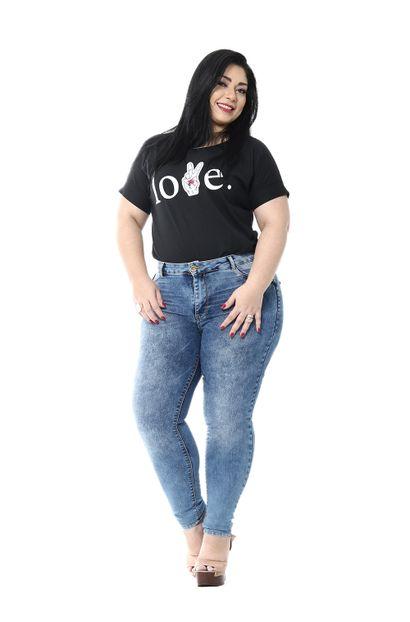 Calça Jeans Feminina Cigarrete Plus Size - 254983
