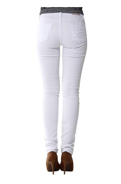 Calça Jeans Feminina Legging Branca Levanta Bumbum - 255591