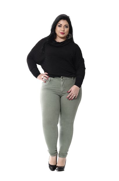 Calça Jeans Feminina Cigarrete Plus Size - 255914