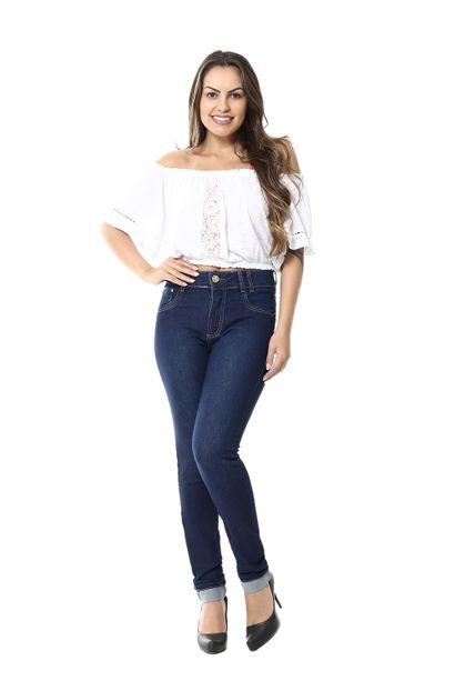 Calça Jeans Feminina Cigarrete Intermediaria - 255423