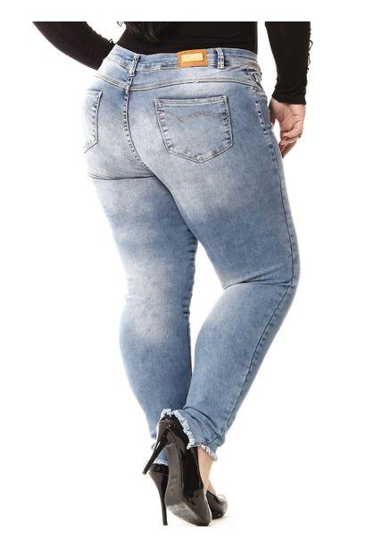 Calça Jeans Feminina Cigarrete Plus Size - 255284