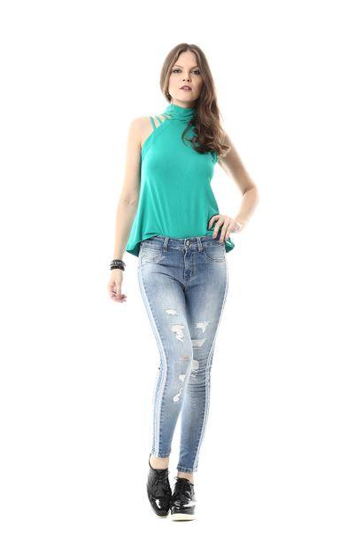 Calça Jeans Feminina Cigarrete - 255030